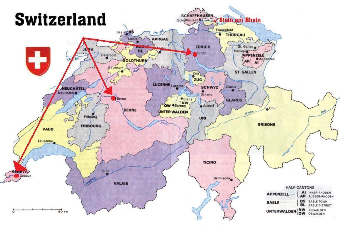 Geneva Switzerland Map Geneva Switzerland Map Europe Western