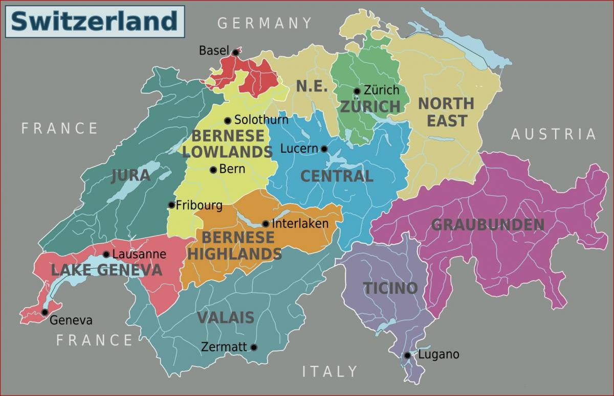 switzerland attraction map